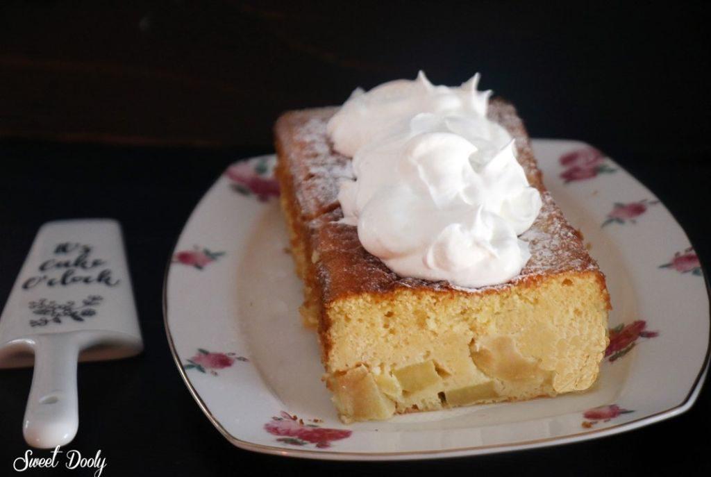 עוגת תפוזים ותפוחים בחושה פרווה