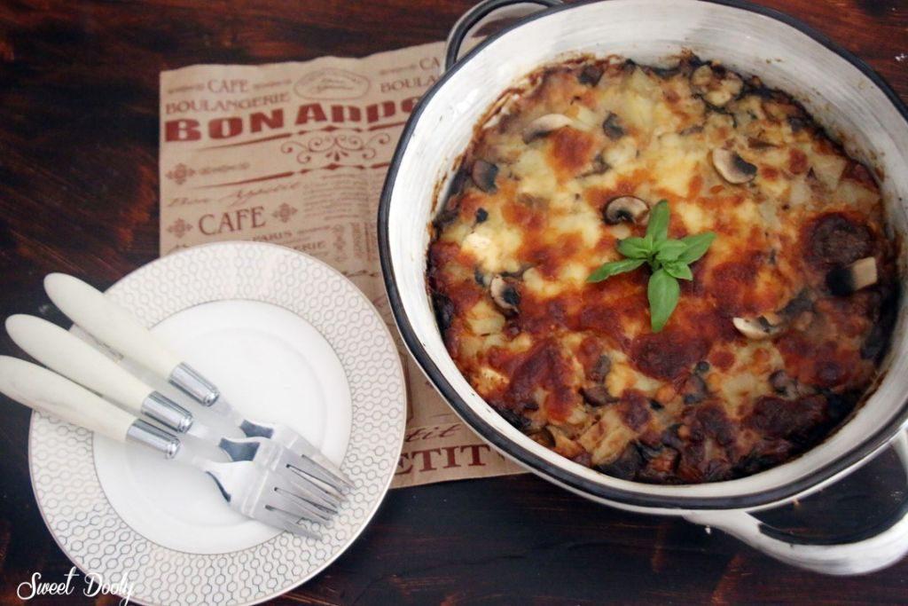 פשטידת תפוחי אדמה ופטריות ללא גלוטן
