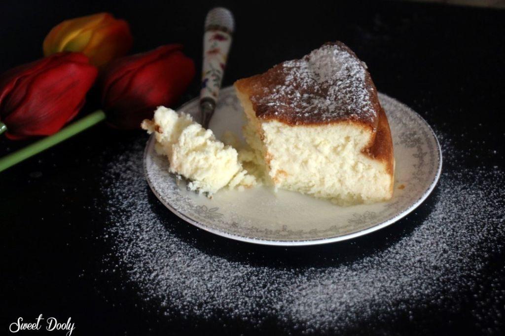 עוגת גבינה אפויה גבוהה ללא גלוטן