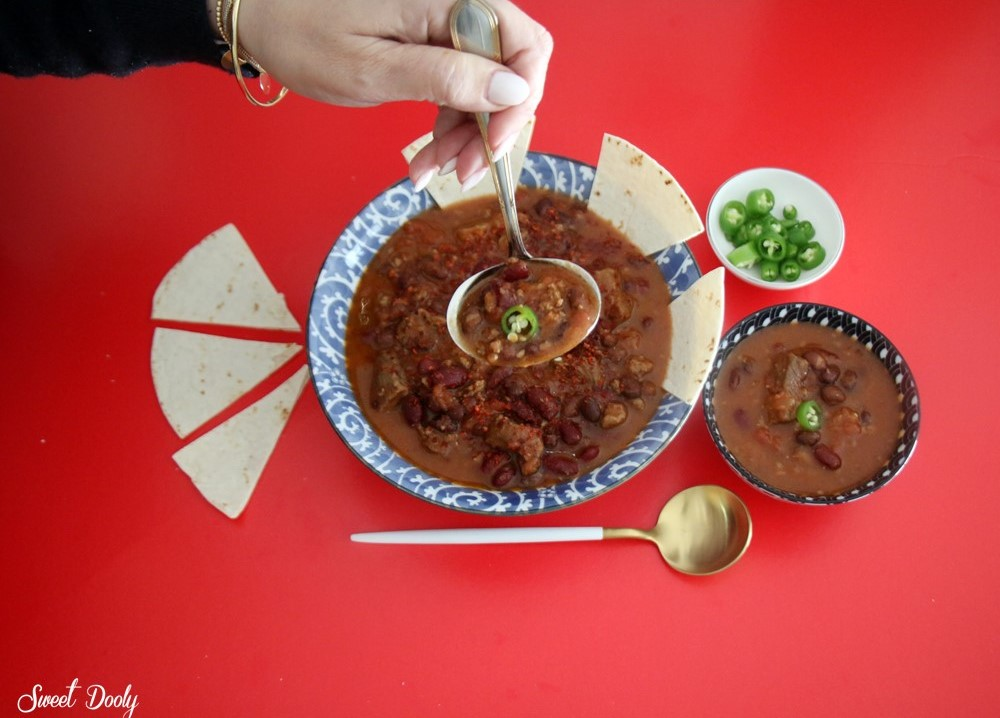 מרק מקסיקני עם שעועית ובשר