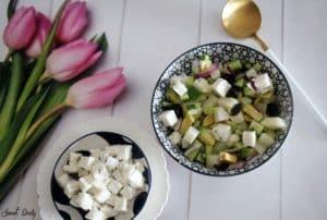 סלט תפוחי אדמה וגבינה