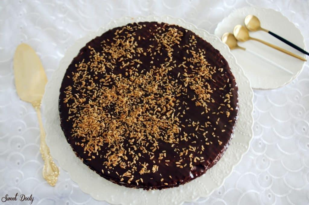 עוגת וופלים שוקולד וטחינה פרווה וטבעונית