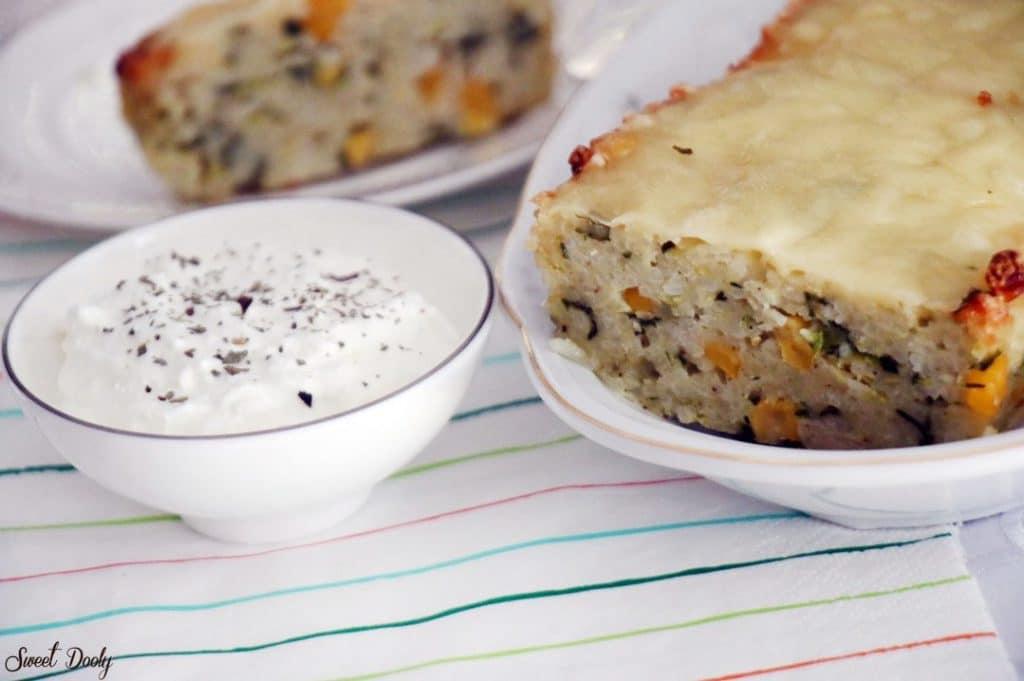 פשטידת אורז עם ירקות חלבית