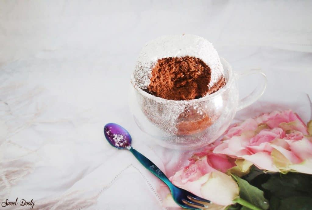 עוגת שוקולד בכוס במיקרו