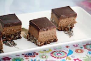 עוגת גלידה שוקולד נוגט