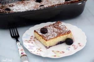 עוגת גבינה אפויה עם אוכמניות