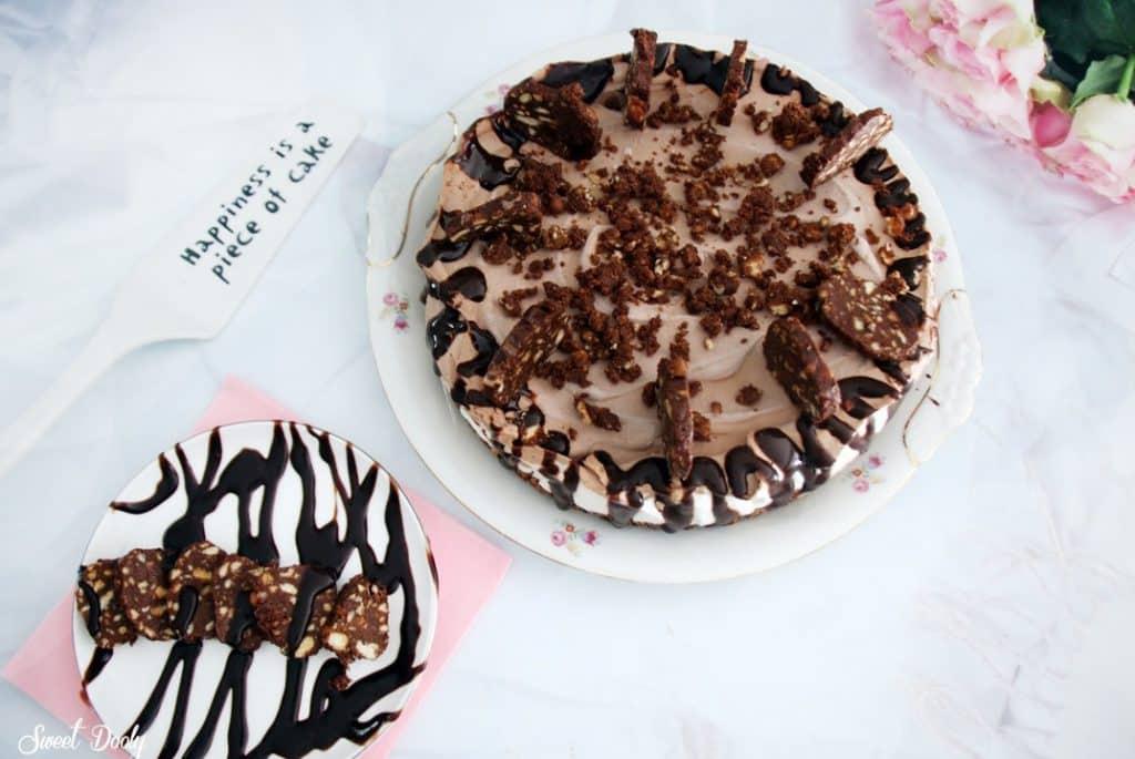 עוגת גלידה שוקולד וניל שכבות