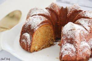 עוגת גזר קינמון ותפוחים פרווה