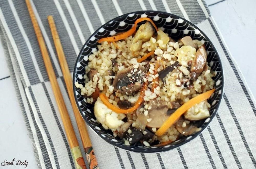 בורגול עם ירקות בסגנון אסייתי
