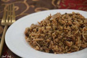 מג'דרה אורז עם שעועית מש