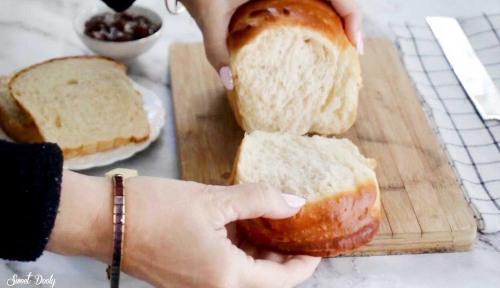 לחם חלב רך כמו עננים