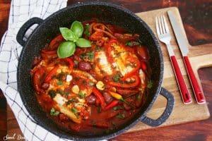 דג אמנון ברוטב עגבניות ים תיכוני