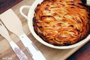 תפוחי אדמה פרוסות דקות אפויות בתנור
