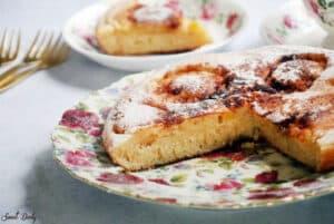 עוגת תפוחים על מחבת