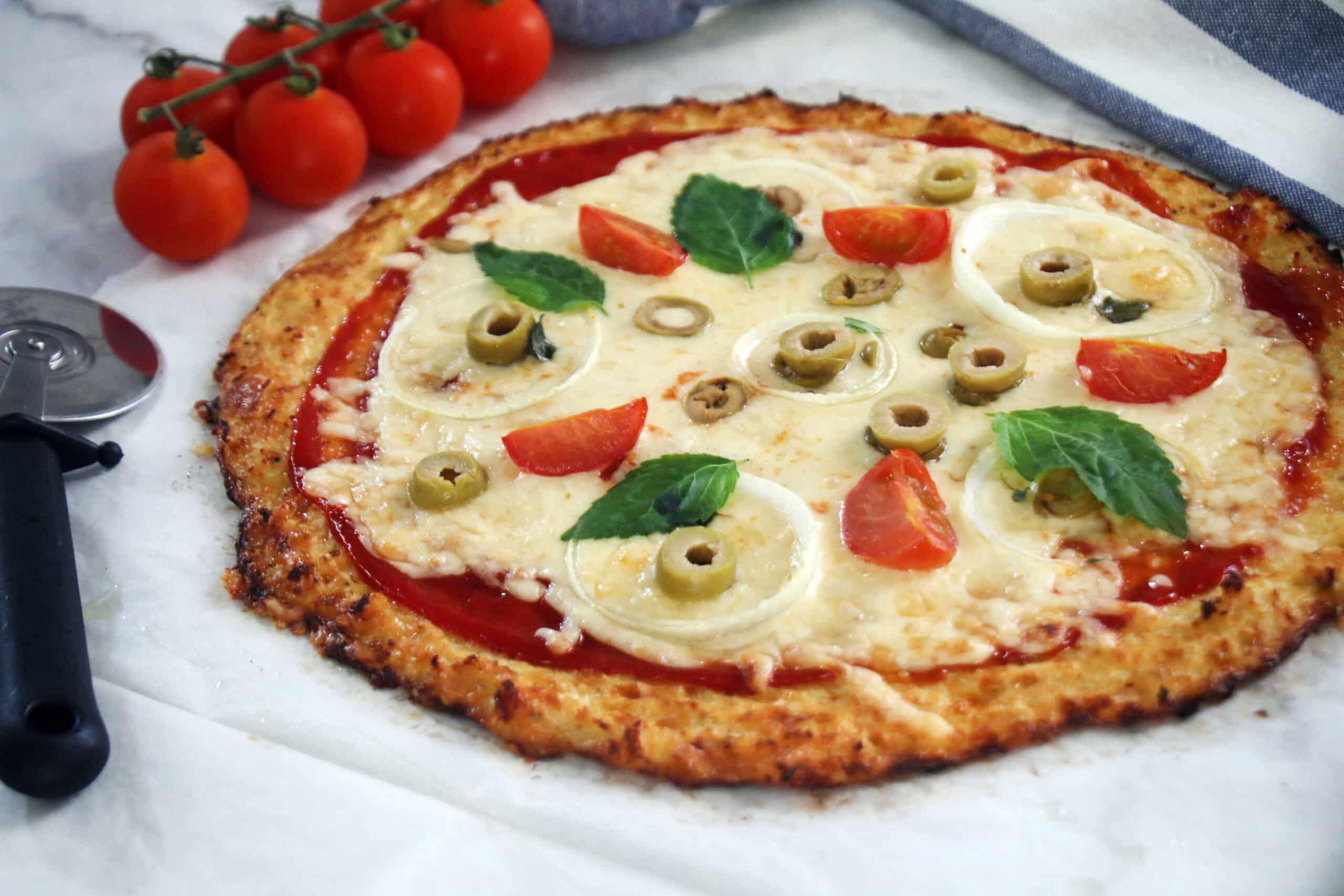 פיצה מבצק כרובית ללא גלוטן