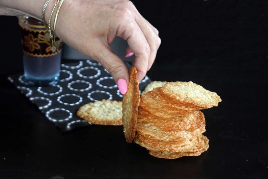 עוגיות תחרה שקדים ללא גלוטן