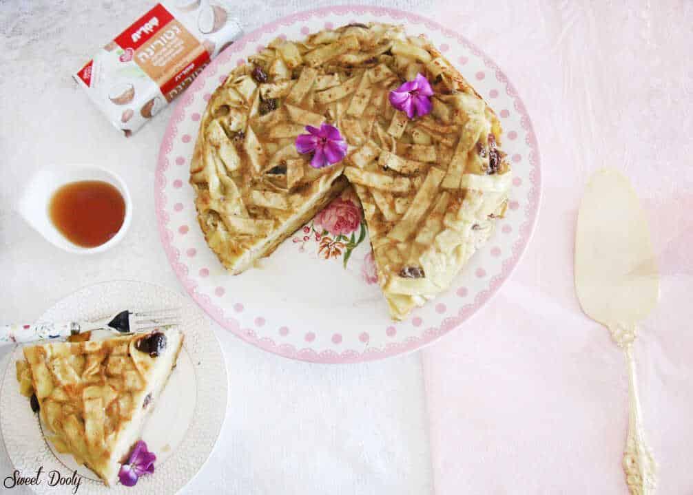 פשטידת אטריות עם צימוקים פרווה