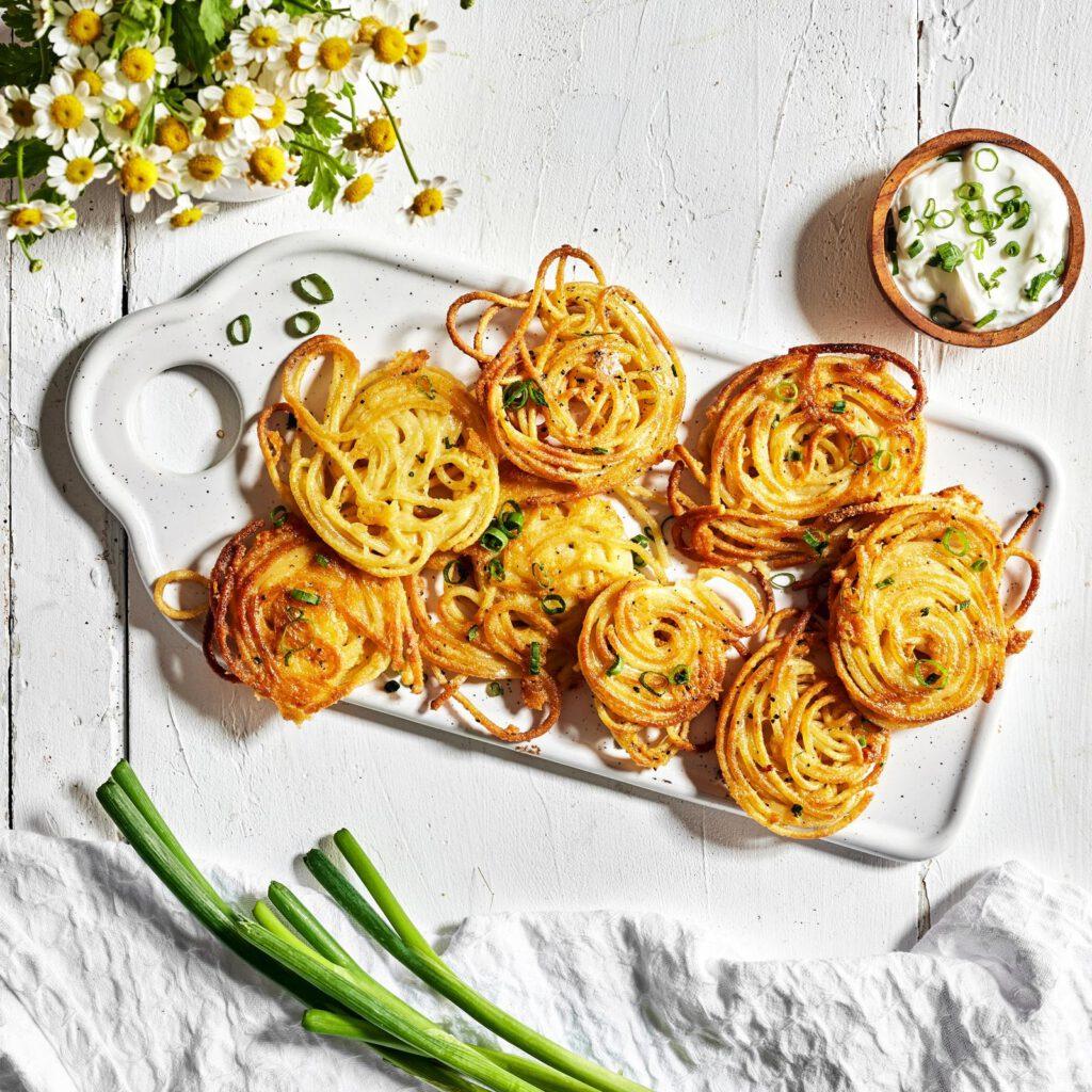 לביבות ספגטי עם גבינה