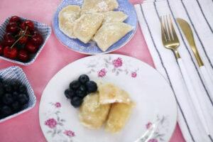 כיסונים ורניקס עם גבינה מתוקה