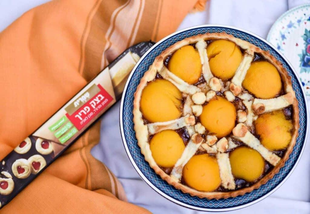 פאי אפרסקים פרווה בעשר דקות