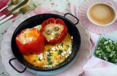 ביצה אפויה בתוך גמבה