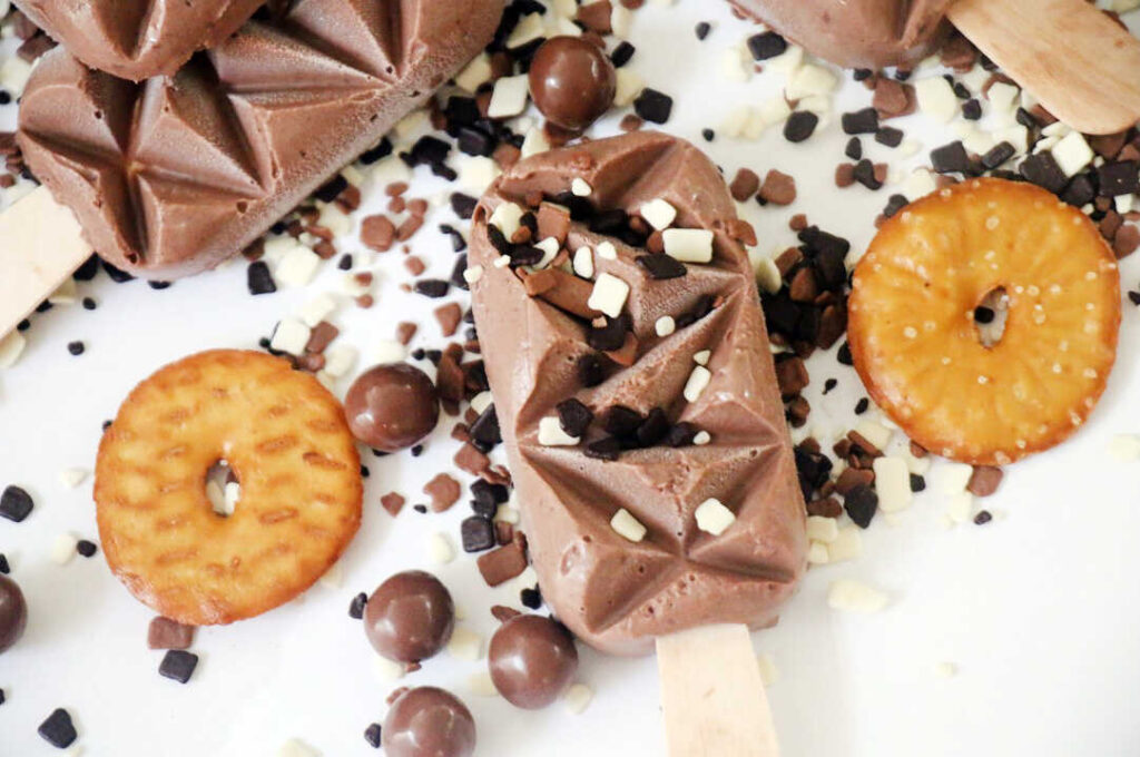 ארטיק שוקולד ובייגלה מלוח