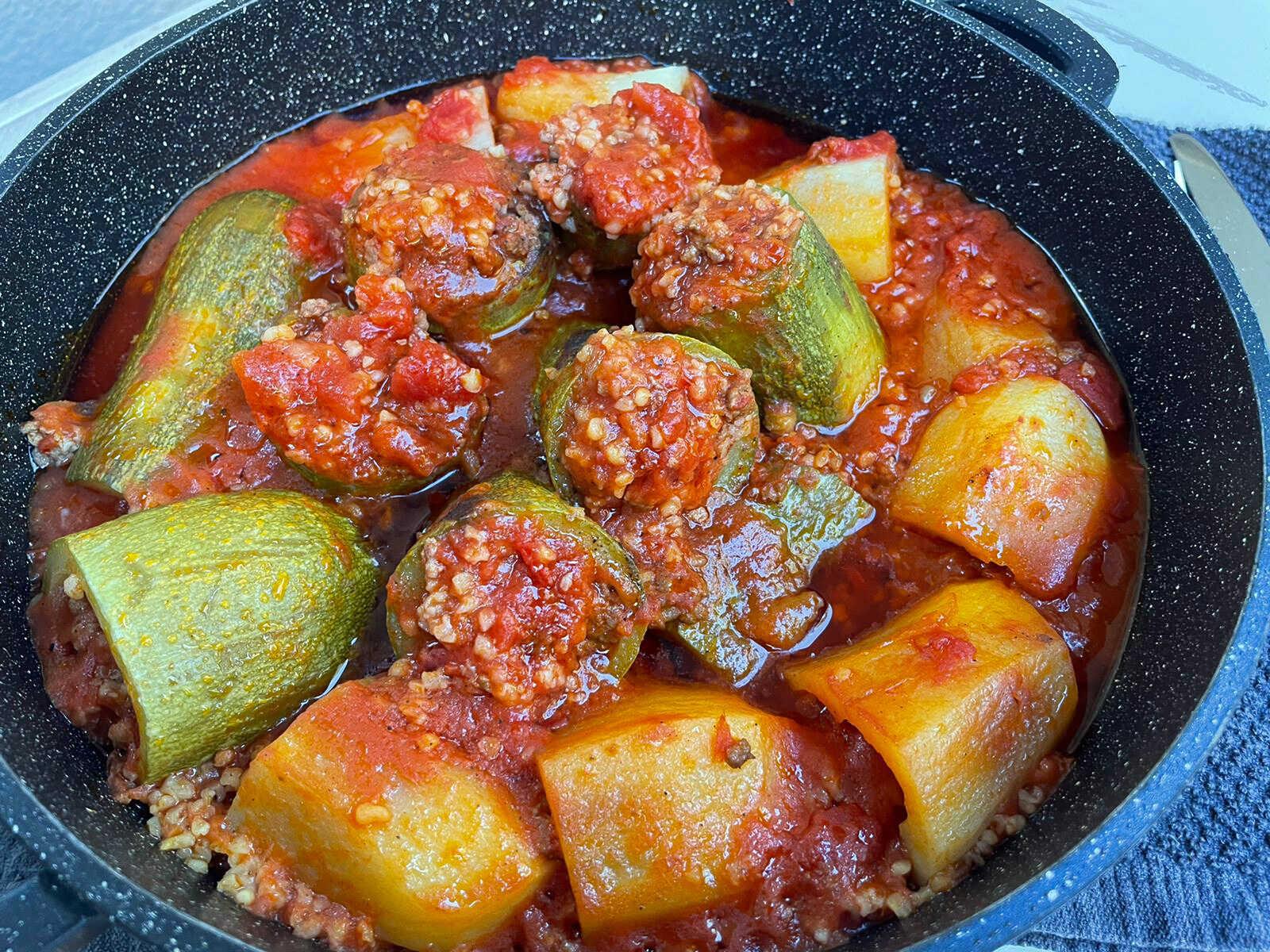 ירקות ממולאים בבשר ובורגול